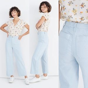 Madewell Slim Emmett Wide-Leg Crop Pants Speckle